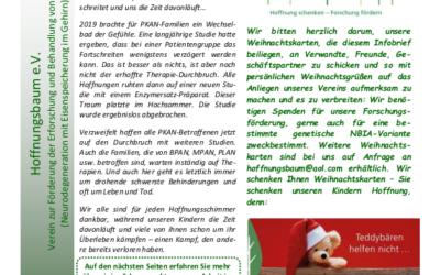 Hoffnungsbaum Infobrief zum Jahresende 2019